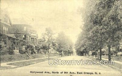 Hollywood Ave North Of 9Th Ave - East Orange, New Jersey NJ Postcard