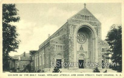 Church Of The Holy Name - East Orange, New Jersey NJ Postcard