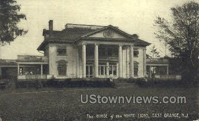 The House Of White Lions - East Orange, New Jersey NJ Postcard