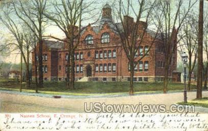 Nassau School - East Orange, New Jersey NJ Postcard