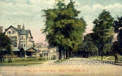 Munn & Central Ave - East Orange, New Jersey NJ Postcard