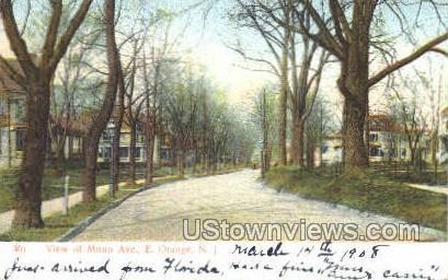 Muun Ave - East Orange, New Jersey NJ Postcard