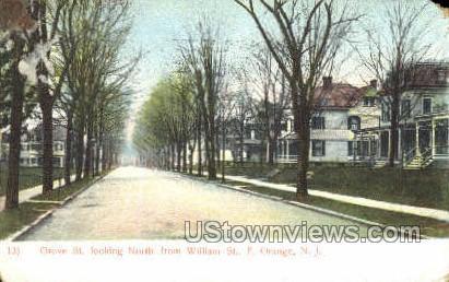 Grove St. - East Orange, New Jersey NJ Postcard