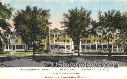 Hotel Edgemere & Cottages - East Orange, New Jersey NJ Postcard