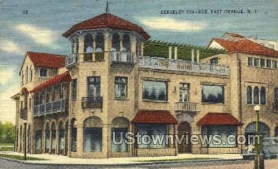 Berkely College - East Orange, New Jersey NJ Postcard