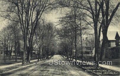 Prospect St. North Of William Street - East Orange, New Jersey NJ Postcard