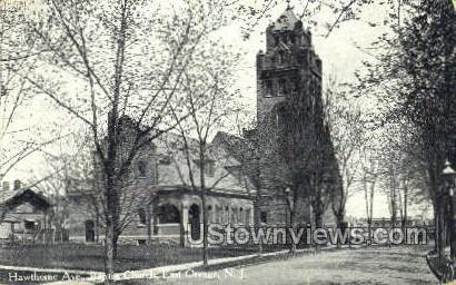 Hawthorn Ave, Baptist Church - East Orange, New Jersey NJ Postcard