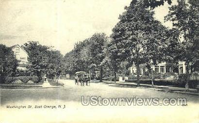 Washington Street - East Orange, New Jersey NJ Postcard