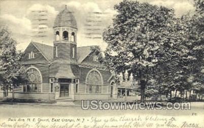 Park Ave. M.E. Church - East Orange, New Jersey NJ Postcard