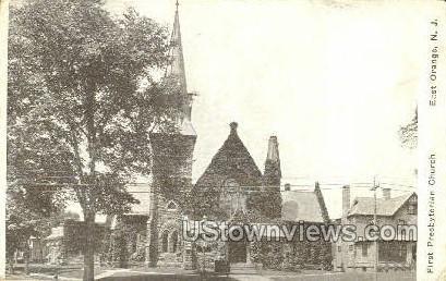 First Presbyterian Church - East Orange, New Jersey NJ Postcard