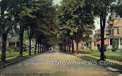 Hawthorn Ave - East Orange, New Jersey NJ Postcard
