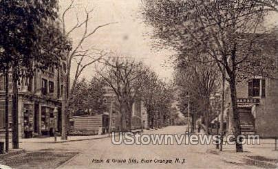 Main & Grove Steets - East Orange, New Jersey NJ Postcard