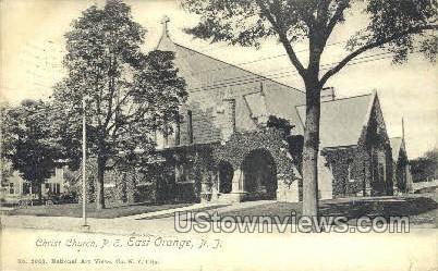 Christ Church, P.E.  - East Orange, New Jersey NJ Postcard