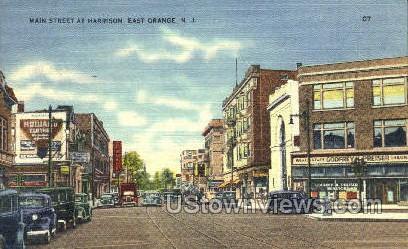 Main Street At Harrison - East Orange, New Jersey NJ Postcard
