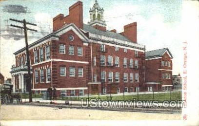 Stocton School - East Orange, New Jersey NJ Postcard