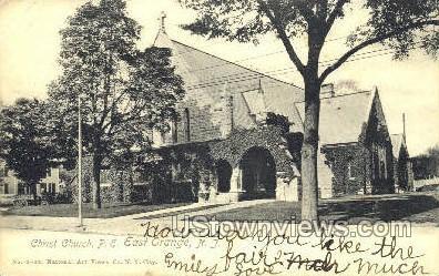Christ Church P.E. - East Orange, New Jersey NJ Postcard