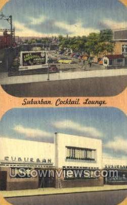 Suburban Cocktail Lounge - East Orange, New Jersey NJ Postcard