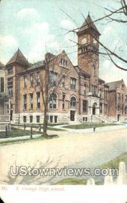 High School - East Orange, New Jersey NJ Postcard