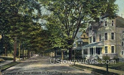 Arlington Ave From William St.  - East Orange, New Jersey NJ Postcard