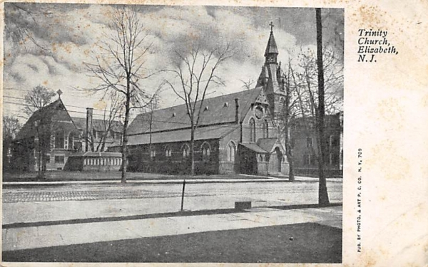 Trinity Church Elizabeth, New Jersey Postcard
