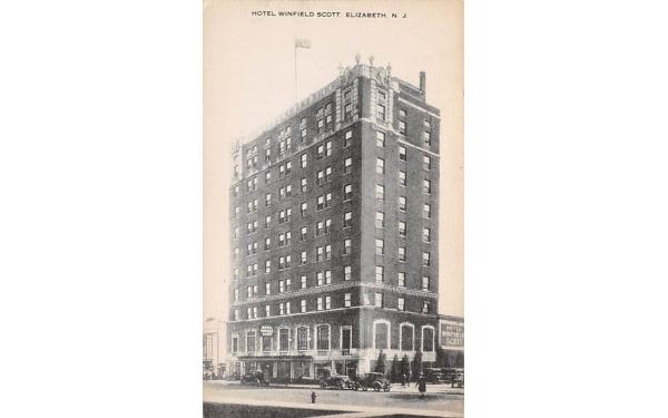 Hotel Winfield Scott Elizabeth, New Jersey Postcard