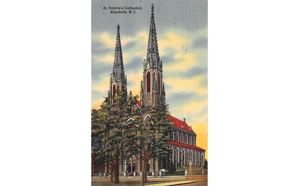 St. Patrick's Cathedral Elizabeth, New Jersey Postcard
