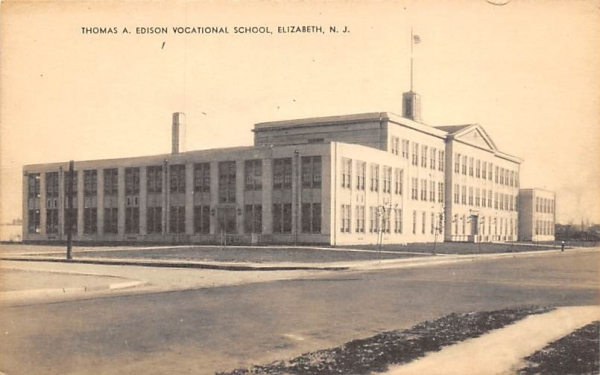 Thomas A. Edison Vocational School Elizabeth, New Jersey Postcard