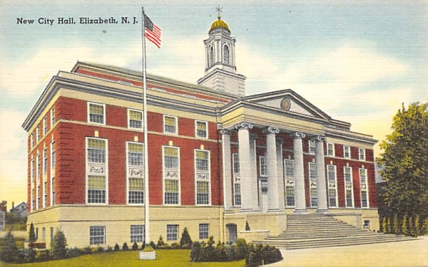 New City Hall Elizabeth, New Jersey Postcard
