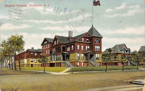 General Hospital Elizabeth, New Jersey Postcard