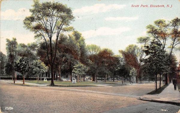 Scott Park Elizabeth, New Jersey Postcard