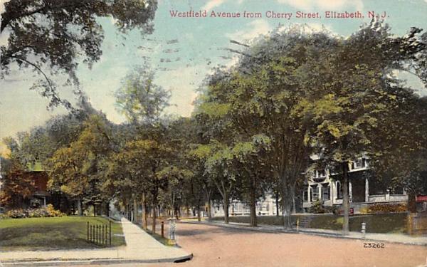 Westfield Avenue from Cherry Street Elizabeth, New Jersey Postcard
