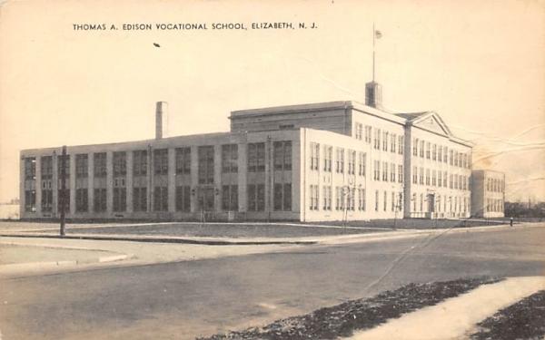 Thomas A. Ediscon Vocational School Elizabeth, New Jersey Postcard