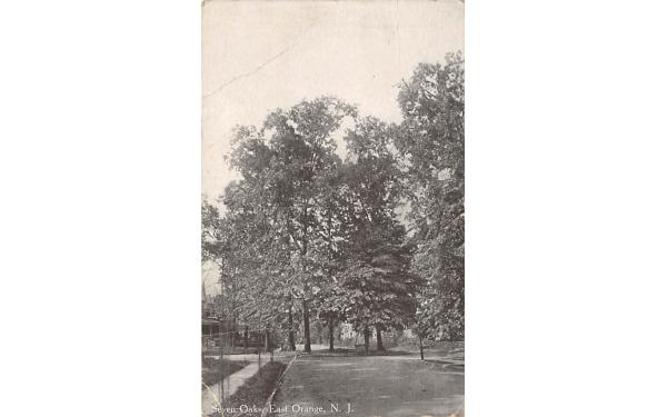 Seven Oaks East Orange, New Jersey Postcard