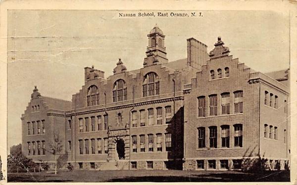 Nassau School East Orange, New Jersey Postcard