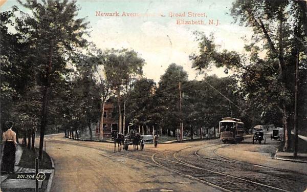 Newark Avenue Elizabeth, New Jersey Postcard