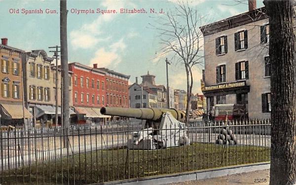 Old Spanish Gun, Olympia Square Elizabeth, New Jersey Postcard
