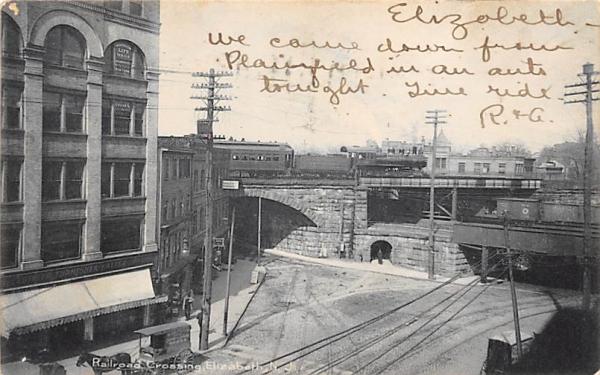 Railroad Crossing Elizabeth, New Jersey Postcard