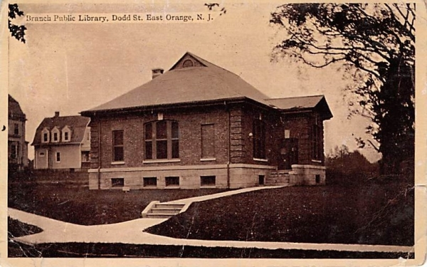 Branch Public Library East Orange, New Jersey Postcard