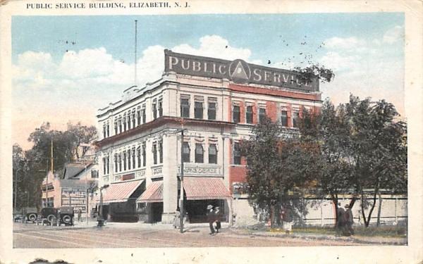 Public Service Building Elizabeth, New Jersey Postcard