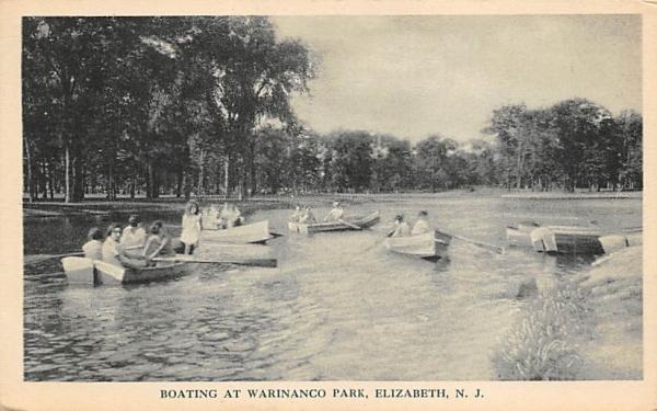 Boating at Warinanco Park Elizabeth, New Jersey Postcard