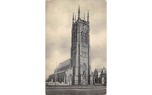 St. John's Episcopal Church Elizabeth, New Jersey Postcard