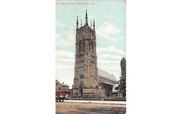 St. John's Church Elizabeth, New Jersey Postcard