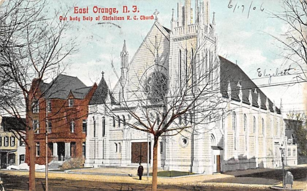 Our Lady help of Christians R. C. Church East Orange, New Jersey Postcard