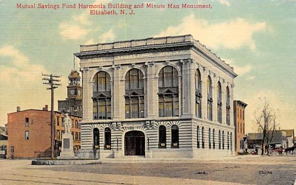 Mutual Savings Fund Harmonia Building Elizabeth, New Jersey Postcard