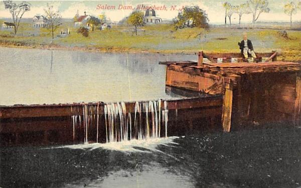 Salem Dam Elizabeth, New Jersey Postcard