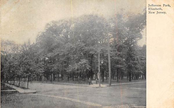 Jefferson Park Elizabeth, New Jersey Postcard