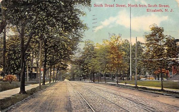 South Board Street Elizabeth, New Jersey Postcard