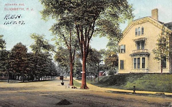 Newark Ave. Elizabeth, New Jersey Postcard
