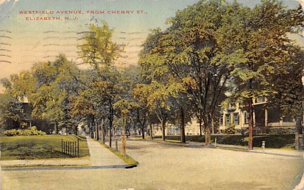 Westfield Avenue from Cherry St. Elizabeth, New Jersey Postcard