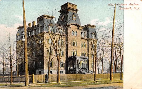 Orphan Asylum Elizabeth, New Jersey Postcard